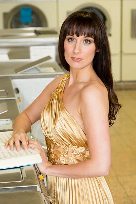 Portraitfoto einer Sopranistin
