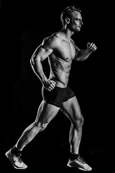 Fotoshooting Beinmuskeln